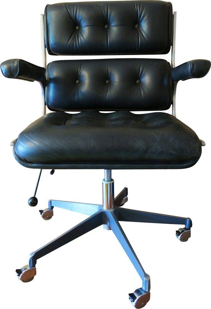 Chaise de bureau réglable vintage scandinave - 1970