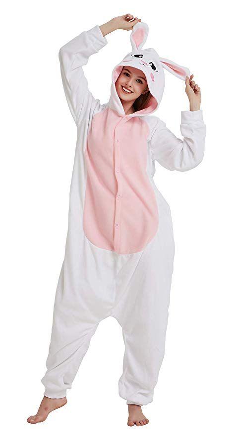 677370d4f454 Amazon.com  AceChic Adult Rabbit Animal Pajamas Onesie Cosplay Costume  Homewear Adults Teens  Clothing