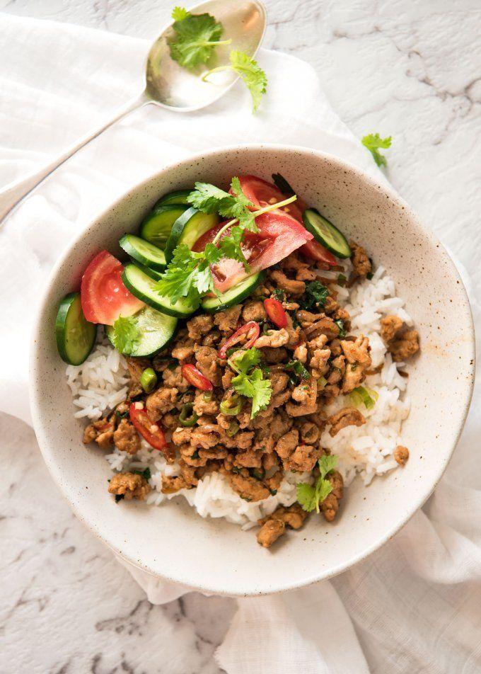 Get the recipe: spicy Thai chicken stir-fry Image Source: RecipeTin Eats