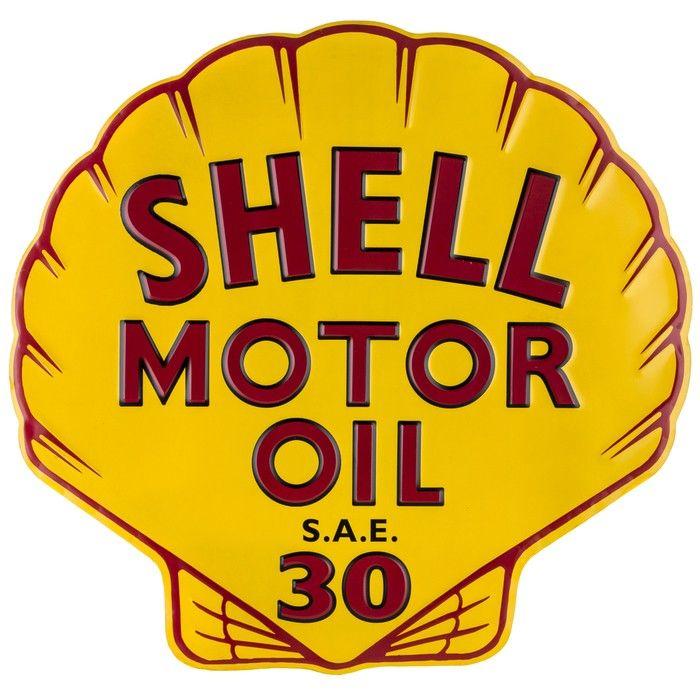 Blechschild Shell Motor Oil Muschel-D1080