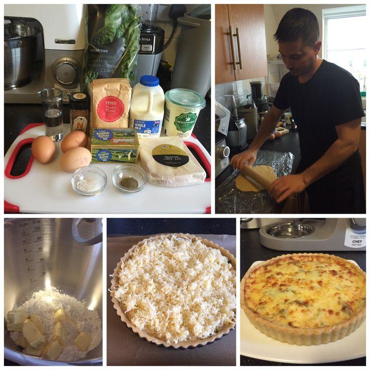 Kenwood Disaster Chef 2015 Week 4 Recipe Challenge - Comté Cheese and Swiss Chard Tart