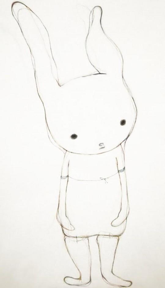 Miko Kobayashi Untitled 2010 pastel et crayon de couleur sur papier
