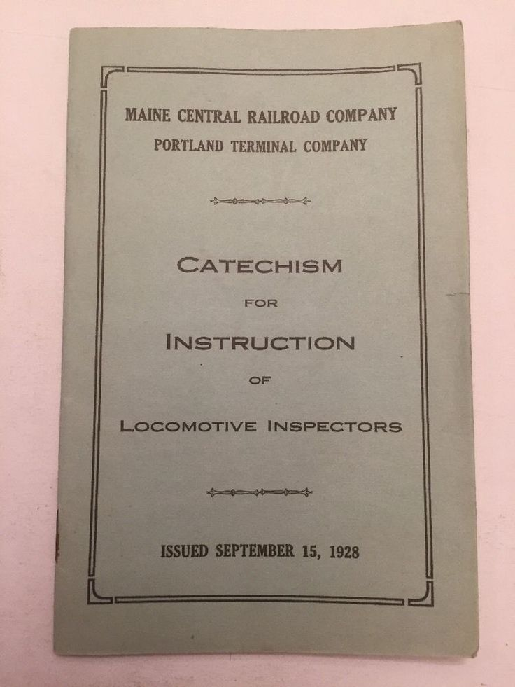 1928 Maine Central Railroad Train Company Catechism Of Instruction Locomotive  | eBay