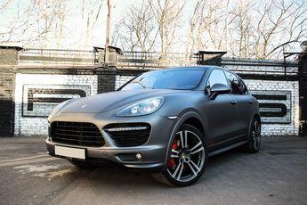 Porsche Cayenne GTS Dark-Grey Matte  Каен в тёмно-сером мате