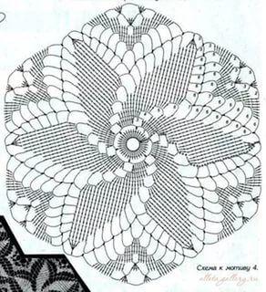 Шестиугольные мотивы крючком со схемами фото 899