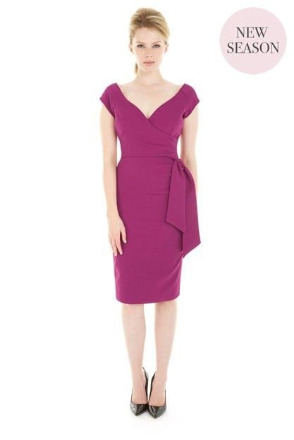 Hourglass Berry Luxe Crepe Pencil Dress £95