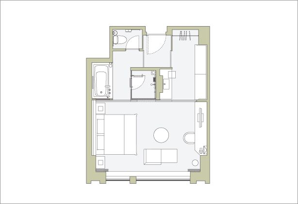 THE CAPITOL HOTEL TOKYU, Tokyo | a Luxury Hotel in Tokyo | Floor Plan of Club Deluxe King