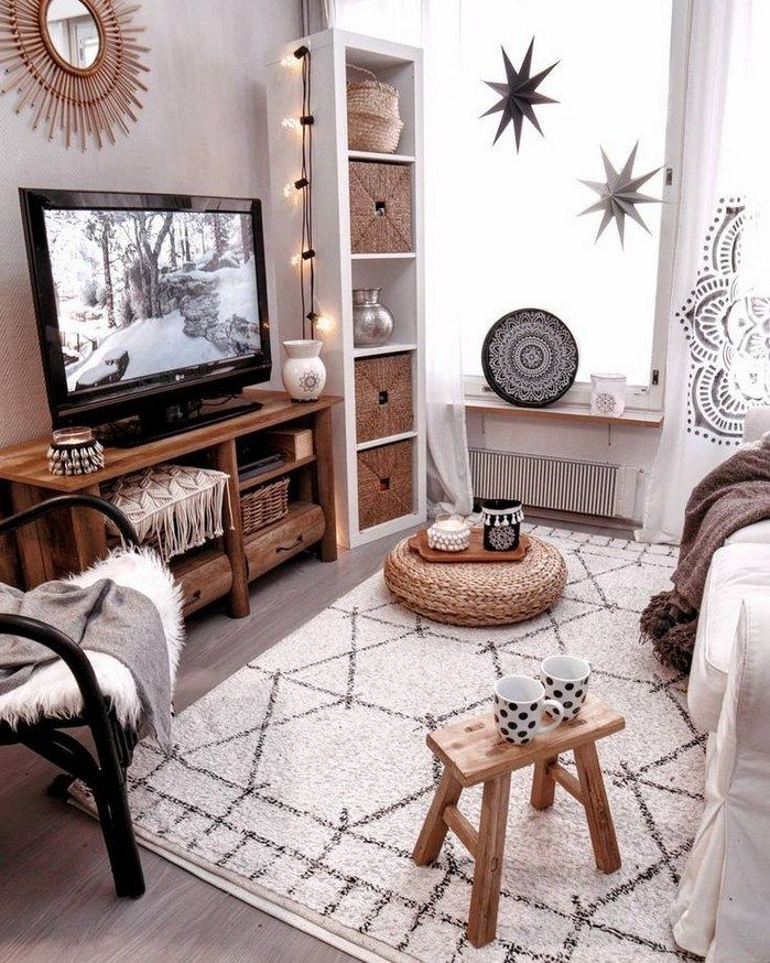 50 Simple But Smart Shelves Decorations For Living Room Storage Ideas Nycrunnin Cozy Apartment Decor Small Apartment Living Room Interior Design Living Room