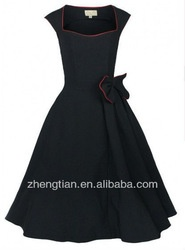 ROCKABILLY PROM PARTY SWING BRIDESMAID DRESS RED / BLACK