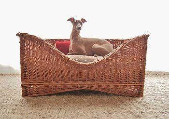 Raised Wicker Dog Basket Mattress #wicker #dog #dogbed