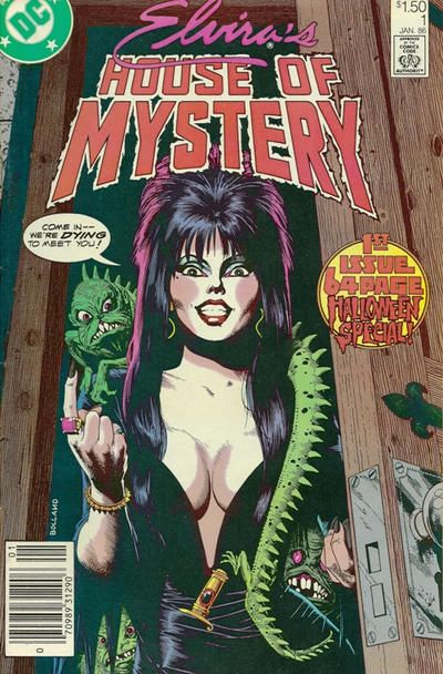 Do you dare enter DC's showcase of haunted comic book stories now with the cachet of Cassandra Peterson's character as a horror host? Cover by Brian Bolland (that's zarjaz!).