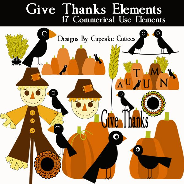 Give The Elements Of Art : Best thanksgiving craft and clip art for party
