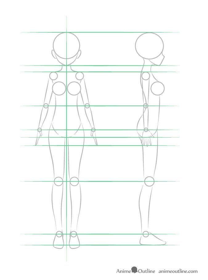 Anatomy Tutorial Girl Drawings In 2020 Anime Drawings Drawing Anime Bodies Body Drawing Tutorial