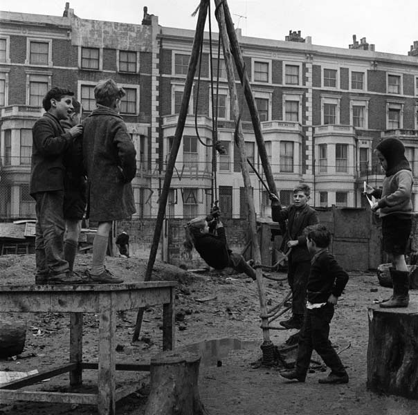 Children in an adventure playground, Notting Hill 1960 | Museum of London