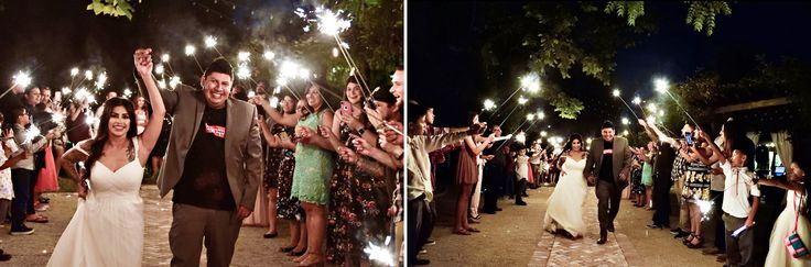wedding outdoor reception bakersfield the randall house bride and groom sparklers
