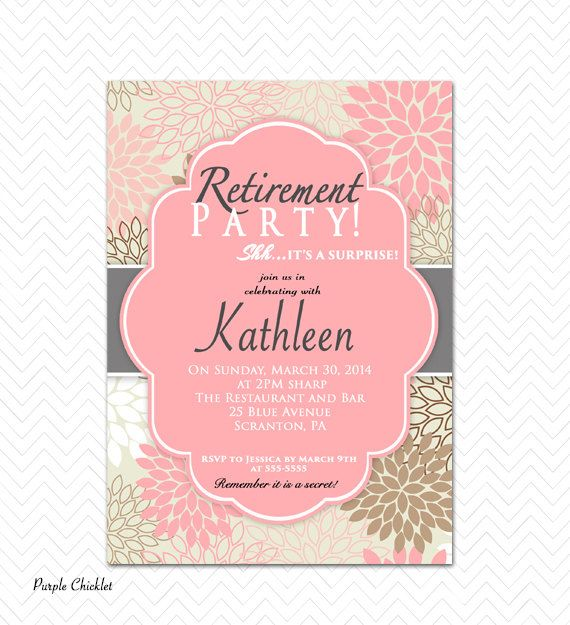 Best  Retirement Party Invitations Ideas On