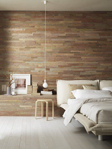 #Slate #wall tiles MURALES by ARTESIA® / International Slate Company #bedroom