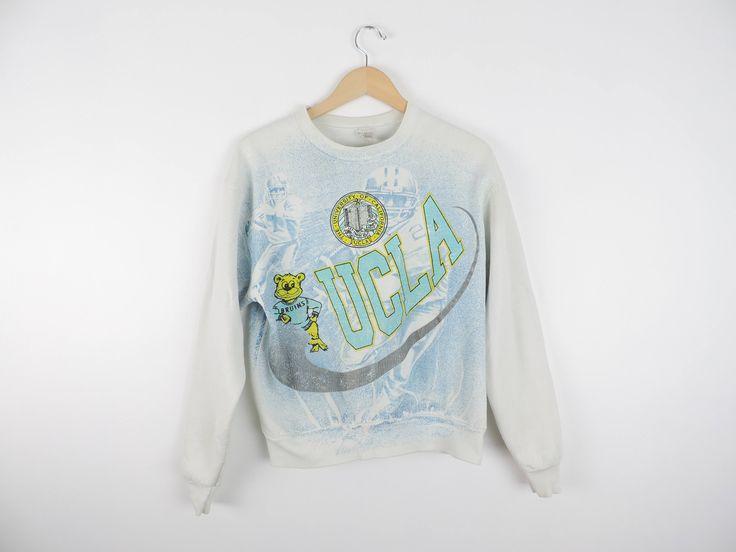 Vintage UCLA Bruins Football Crewneck Sweatshirt // Size LARGE by WildKardVintage on Etsy