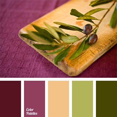 Strong and bright color palette built on a contrasting for Olive green colour combination