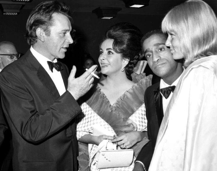 Richard Burton, Elizabeth Taylor, Sammy Davis Jr. and May ...