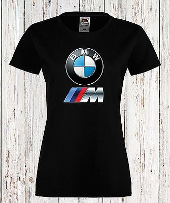 f9f60c03c Lady/Womens T-Shirt BMW M Power Logo Tee Car Short Sleeve/Short Sleeves  Black/White