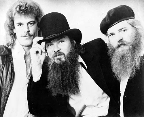 ZZ-Top. From left - Frank Beard, Billy Gibbons and Dusty Hill.