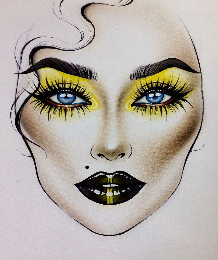рисунки макияжа карандашом на бумаге для начинающих действительно