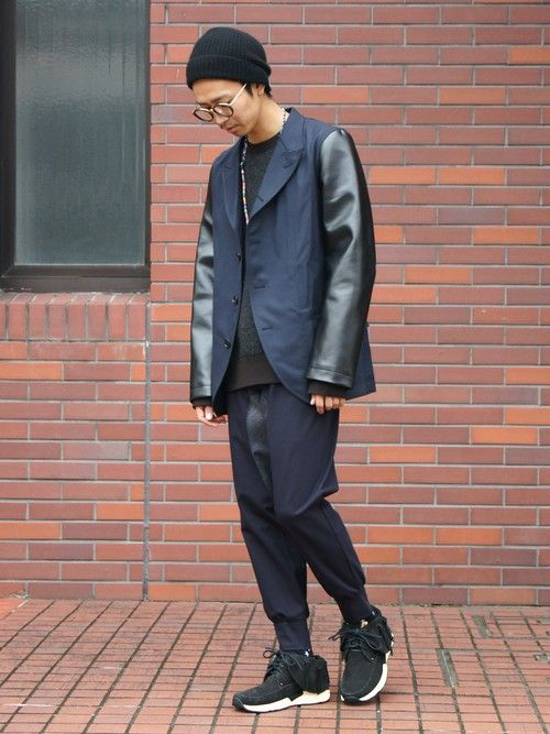 UNDERPASSさんの「POLYESTER/WOOL GABARDINE PLAIN × ARTIFICIAL LEATHER PLAINJACKET(COMME des GARCONS SHIRT)」を使ったコーディネート