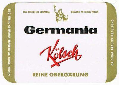 Germania Kölsch - Flaschenetikett um 1970
