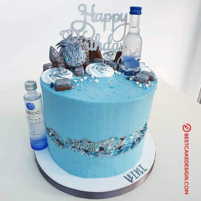 50 Vodka Cake Design Cake Idea October 2019 In 2020 Beer Themed Cake 21st Birthday Cakes Liquor Cake