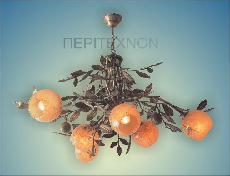 ''ΠΟΡΤΟΚΑΛΙΑ'' Ένα καταπληκτικό χειροποίητο φωτιστικό για το χώρο του σαλονιού http://peritexnon.weebly.com/