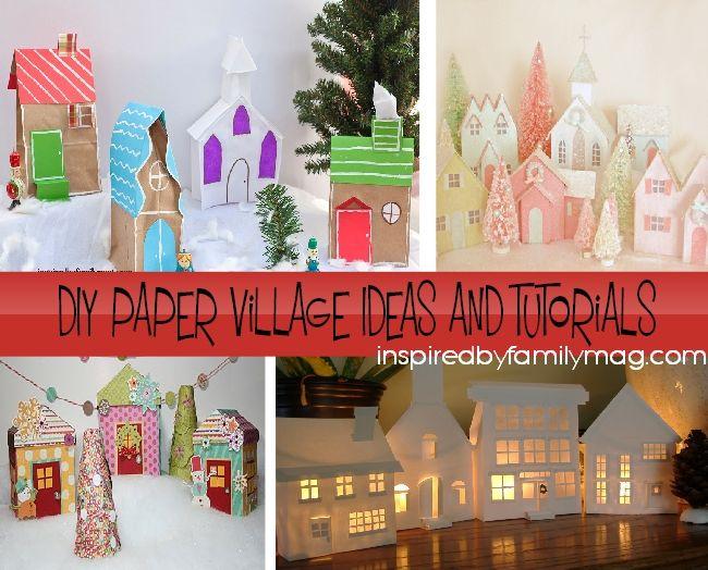 Best 25 diy christmas village ideas on pinterest diy christmas diy christmas village craft from paper bags solutioingenieria Choice Image