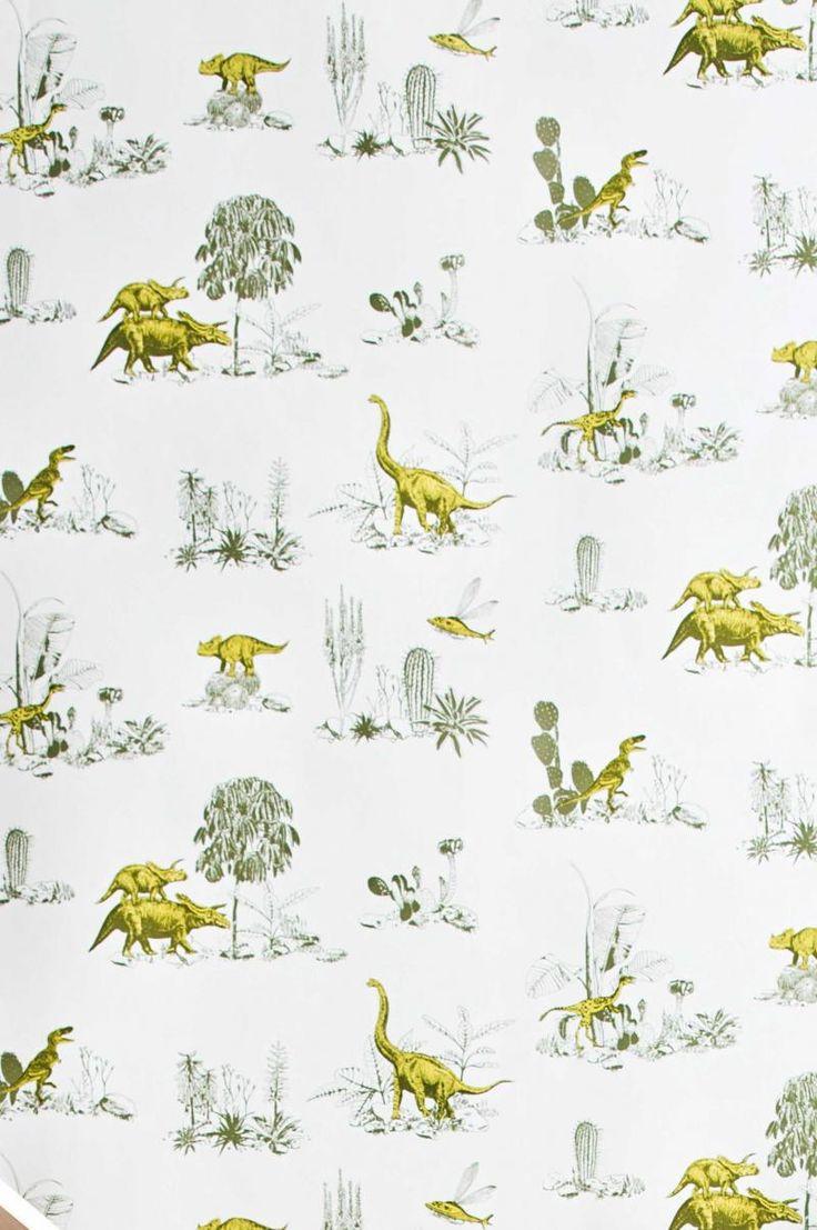 dinosaur-printed-wallpaper