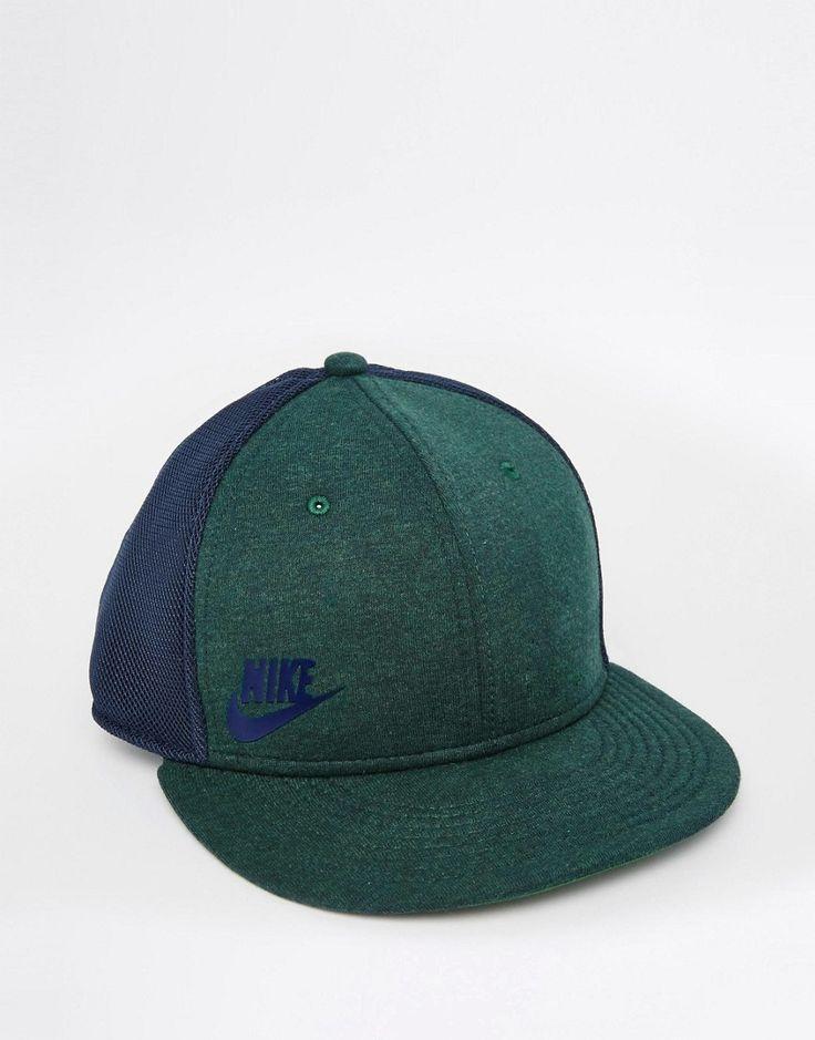 Lækre Nike True Snapback Cap 739418-373 - Green Nike Kasketter & Hatte til Herrer til enhver anledning