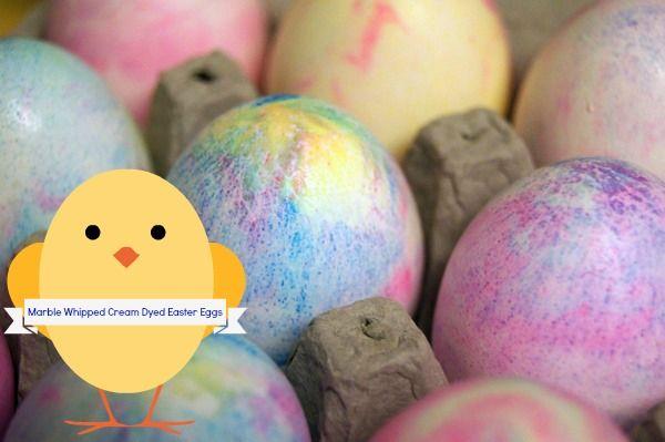 Easter Egg Ideas Whipped Cream Dyed Eggs