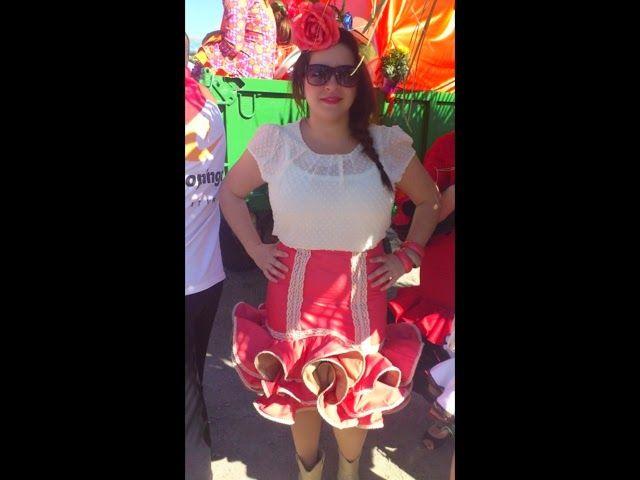 MADE FOR PETACA: Faldas flamenca corta para romería, feria de día.