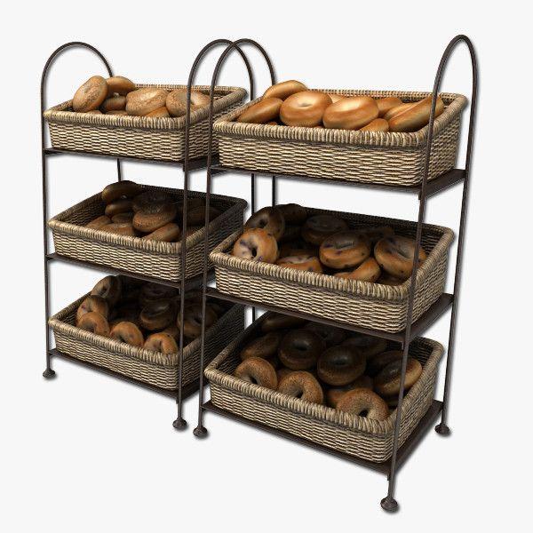 Bagels in baskets