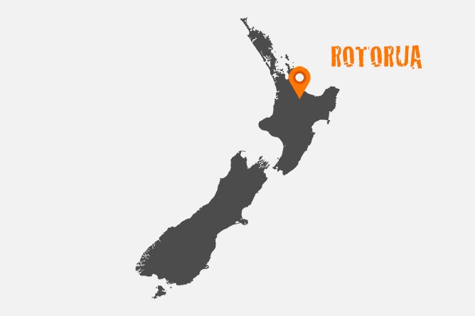 Map Of Rotorua, New Zealand You can't visit the North Island of New Zealand without experiencing Rotorua. A cultural heart for the indigenous Maori people, Rotorua is best known for its thermal mud pools and geysers which erupt on a daily basis from geothermal activity.