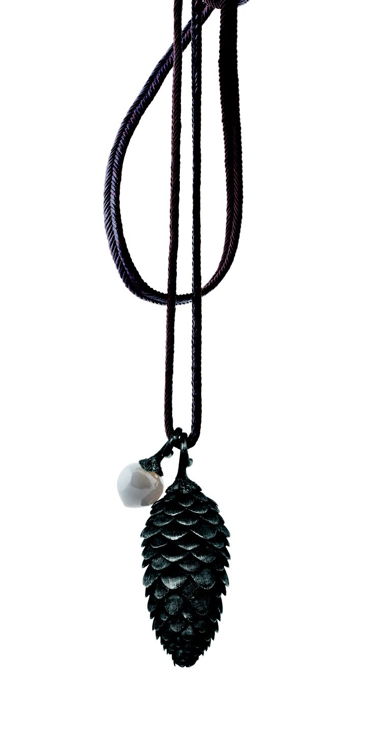 Ole Lynggaard Copenhagen Cone with dew drop on string available from http://www.masterjewellers.com.au/