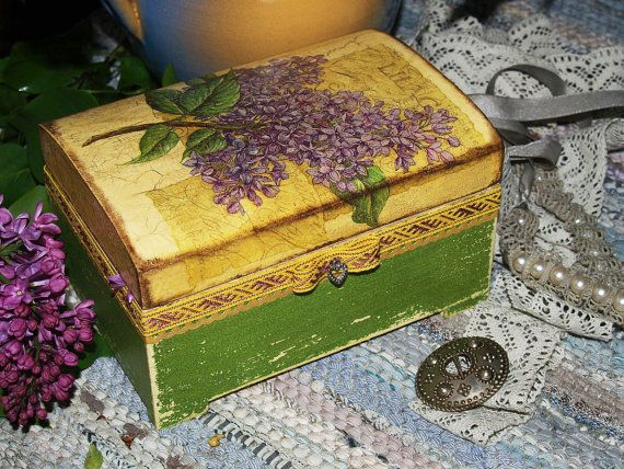 Sale jewelry box mini commode vintage lilac for Commode style shabby chic