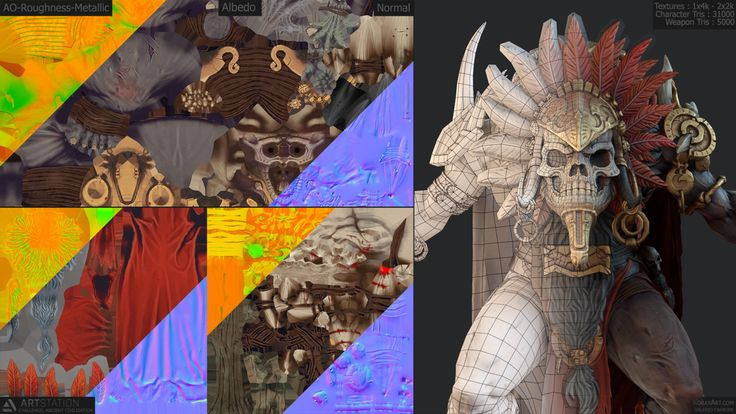 ArtStation - Valerio - Korax - Carbone's submission on Ancient Civilizations: Lost & Found - Game Character Art (real-time)