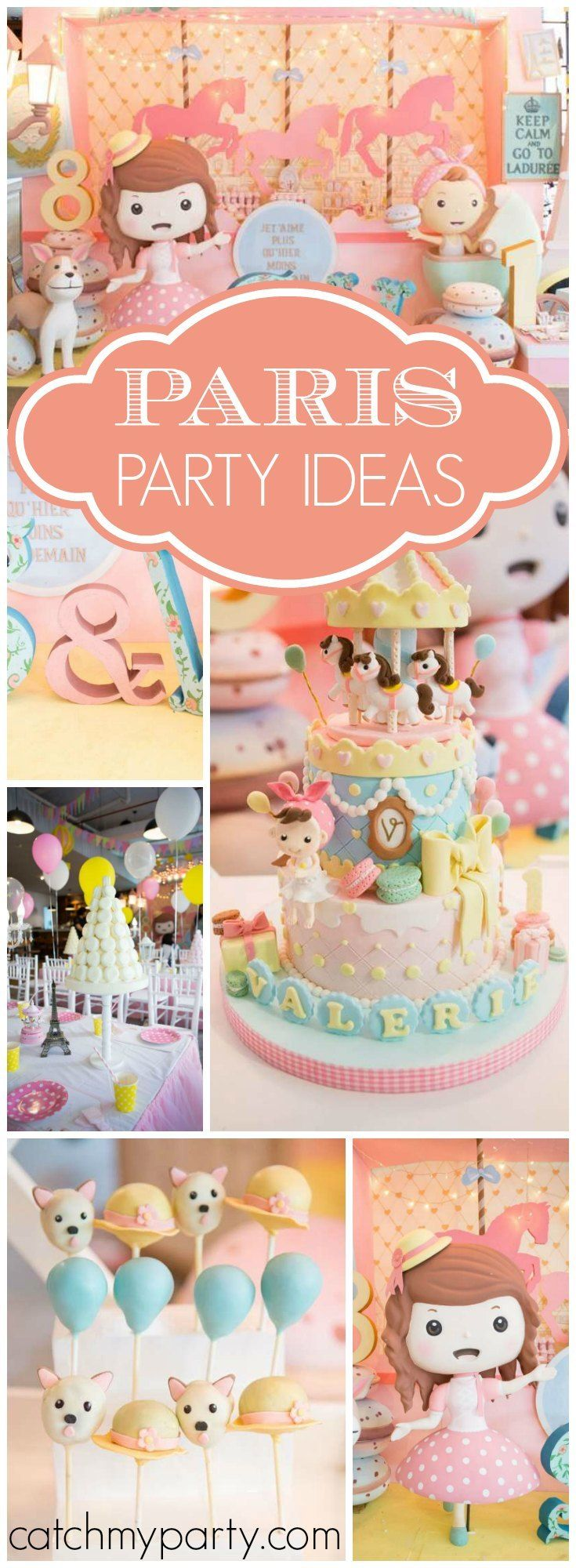 Paris Themed Birthday Party Ideas - French parisian birthday they dream in perfect french je t aime paris