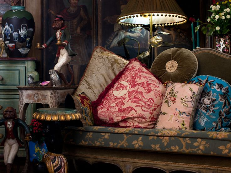 Iris Apfel's Home an eclectic mix of travel goods and finds. (but her jewelry is MORE amazing!)