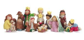 "10pc Childrens Pageant Nativity Set. Size 3"""