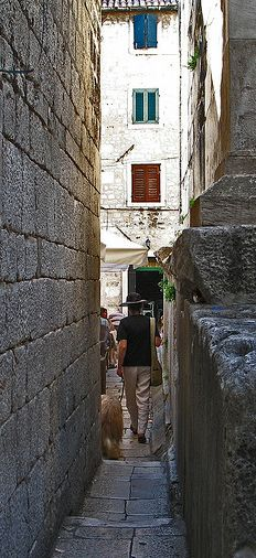 """""""Let me go"""" street, narrowest street in the world, Split - Croatia. For more amazing facts you must pay a visit to us: http://omh.hr/default.aspx?ID=630"""