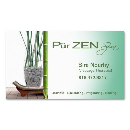 28 best images about SPA BUSINESS CARDS on Pinterest