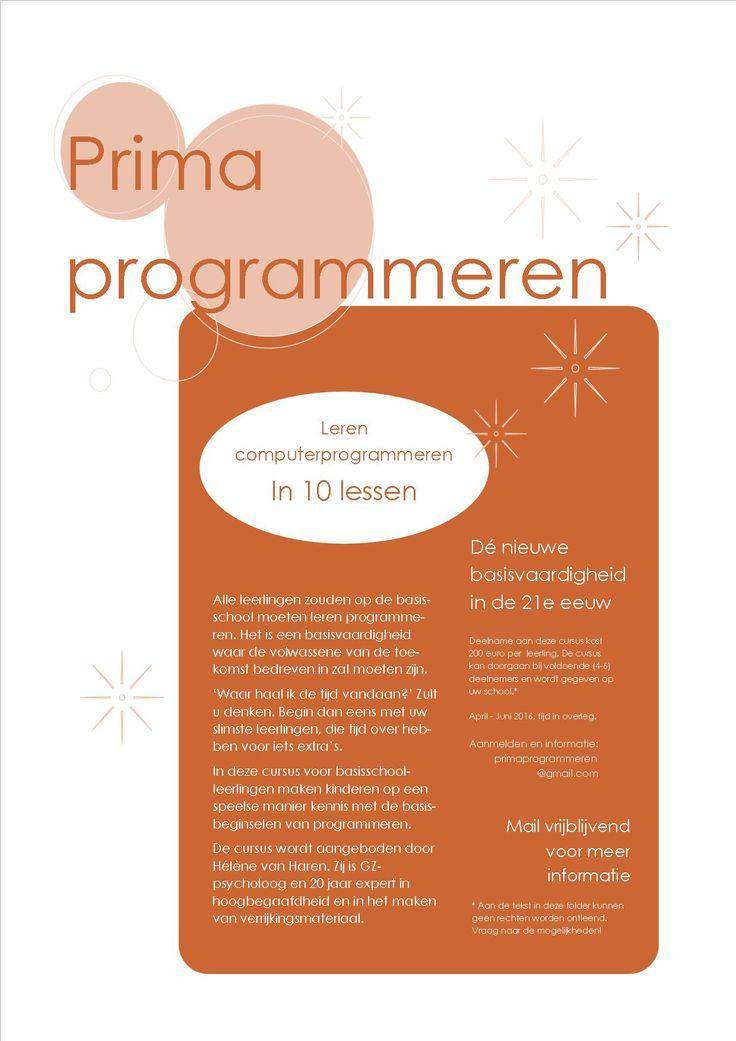 Prima Programmeren 2016 www.verrijkjedag.nl