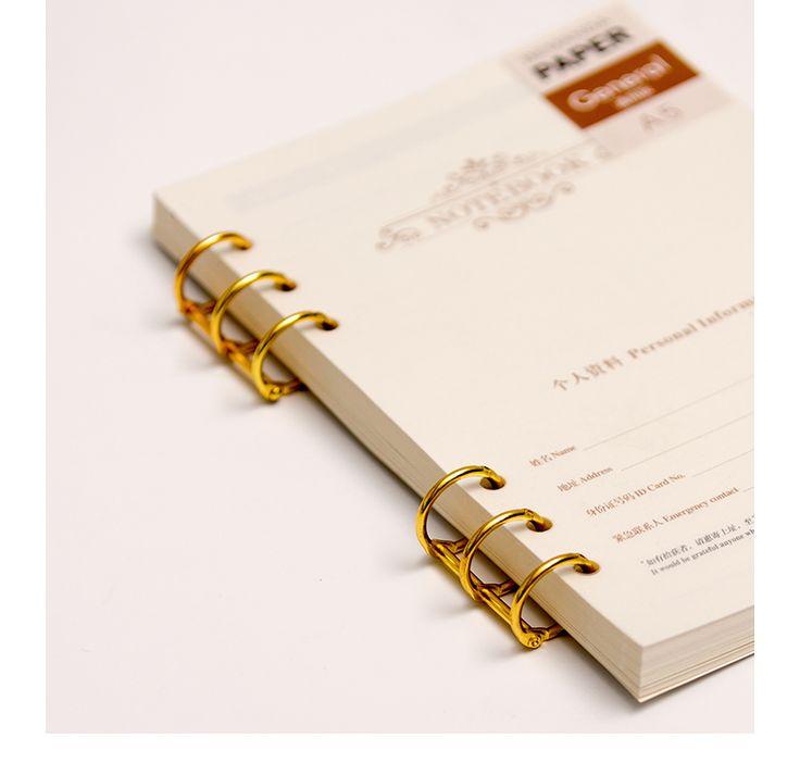 Металл хранения папка переплет используется для ядром ноутбук офис школы организатор канцелярские купить на AliExpress