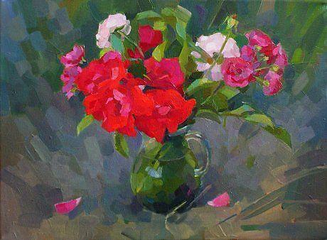 Розы из заброшенного сада - Изобразительное искусство - Масло, акрил