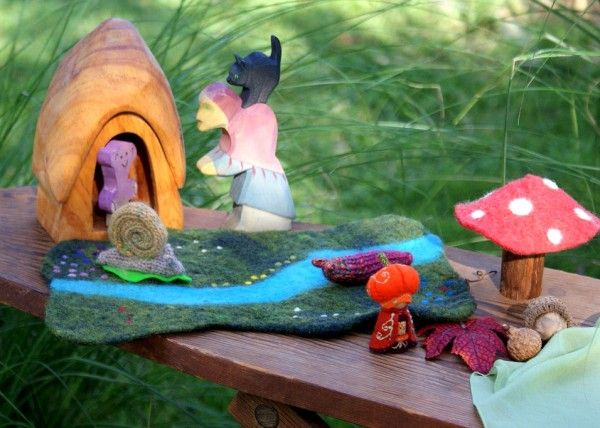 I found a wonderful blog post about creating stories with children at rhythm of the home. It Once Upon a Table